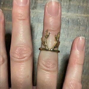 Gold Antler mid-ring